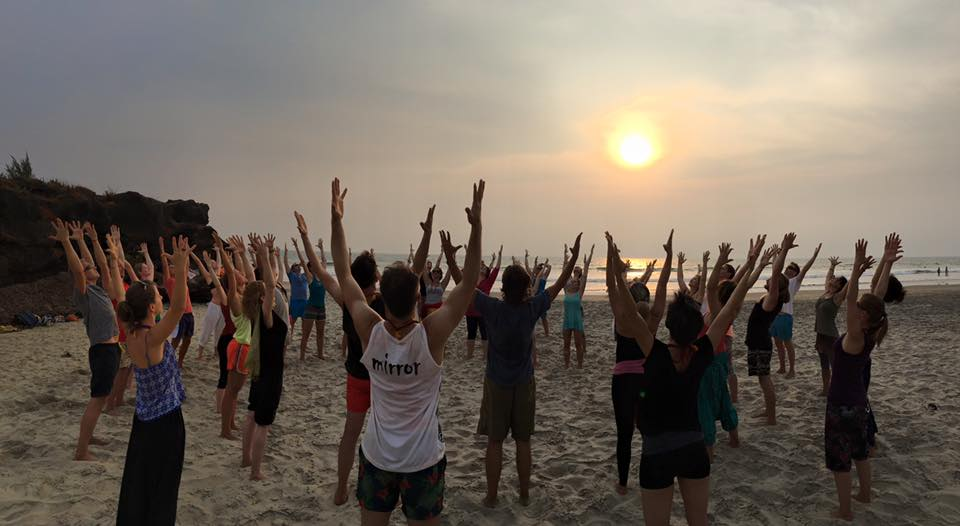 Yoga Ausildung in Indien / Goa 2016